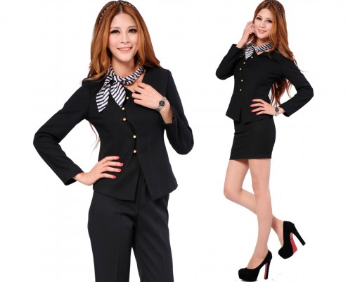 Falis Uniforme traje sastre para dama, recepción u oficina de hotel