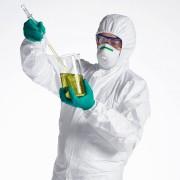 Falis Overol completo para laboratorios químicos con guantes