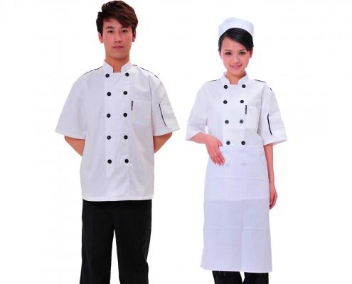 Falis Uniforme para cocinero o chef dama y caballero para restaurante