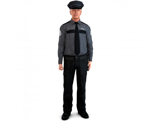 Falis Uniforme para guardia de seguridad corporativa