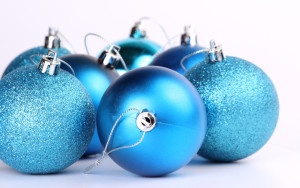 Blue Christmas Baubles or Decorations